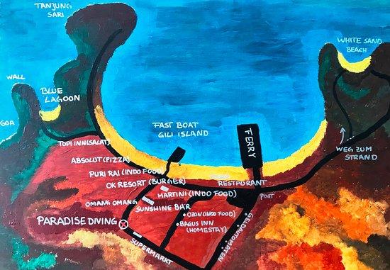 Manggis, Indonesia: Lageplan