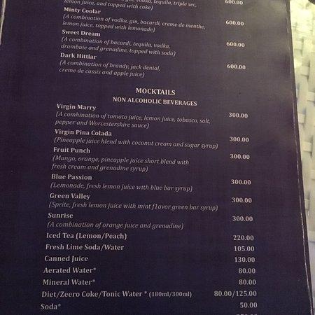 Cafe Sol Menu Shimla