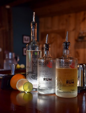 York, ME: We distill bourbon, whisky, rum, vodka, gin, and agave