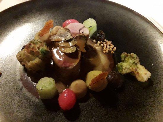 Dilsen-Stokkem, Belgium: kwartel truffel granen spitskool hummus