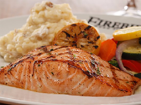 Pembroke Pines, FL: WOOD GRILLED SALMON