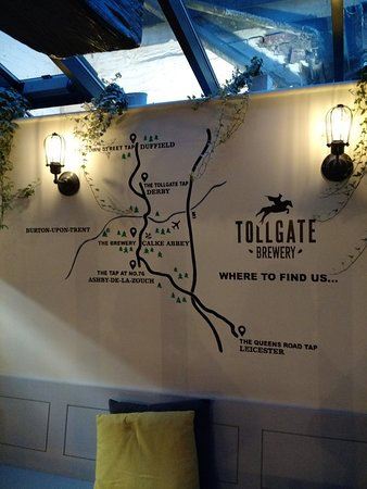 Ashby de la Zouch, UK: Tollgate Taps Map