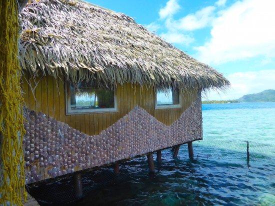 Huahine, Polynésie française : Picturesque Farm Shop 'Afloat'