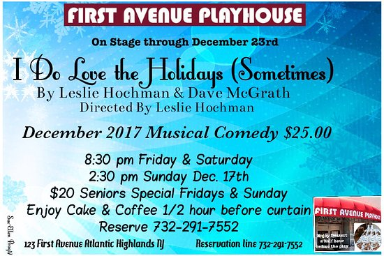 Atlantic Highlands, Nueva Jersey: Enjoy December's performance.  Fun gift idea. Certificates available.  New production every mont