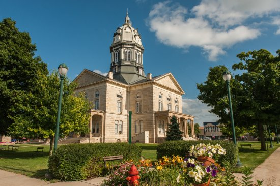 Madison County Chamber of Commerce & Welcome Center: Madison County Courthouse in Winterset, Iowa.  Photo by Teddi Yaeger
