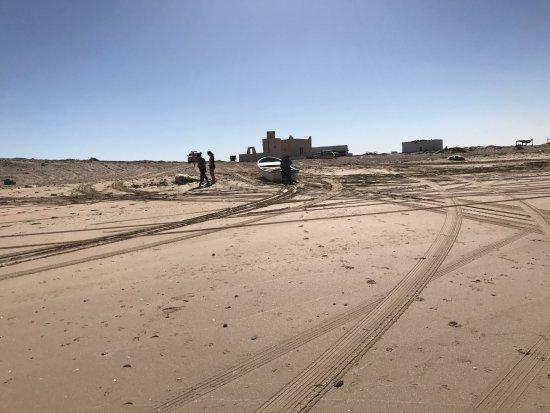 Qurum Beach: la unica construccion