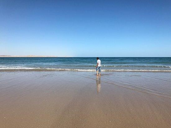 Qurum Beach: gran playa