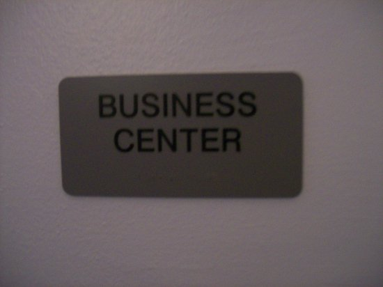 Mebane, NC: Hotel Signage for the Business Center, very small center.