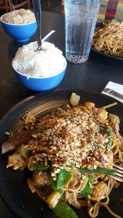 Janesville, WI: My Mongolian noodle dish