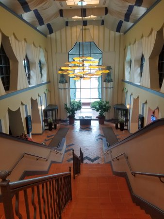 Walt Disney World Dolphin Resort: Back Stairs   To Water Transportation And  Swan Hotel