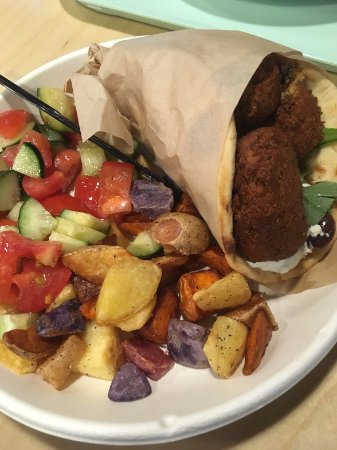 Midvale, UT: Fresh falafel Gyro with sides