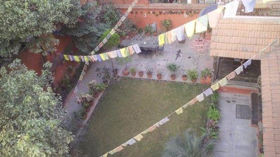 Hotel Horizon: Welcoming garden quart yard.