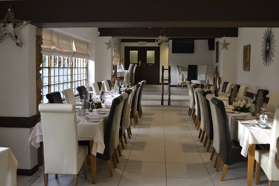 Wellingborough, UK: The restaurant ready for our arrival