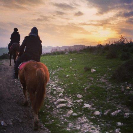 Zafferana Etnea, Italie : tramonto al simeto