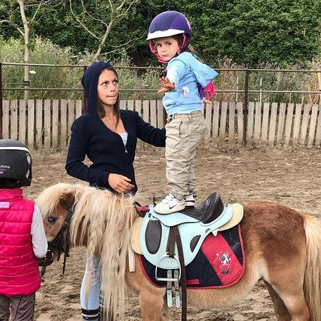 Zafferana Etnea, Italy: Lezione per i più piccoli con i nostri pony. Pony games