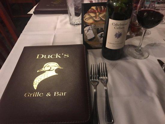 Jacksonville, NC: Menu and wine