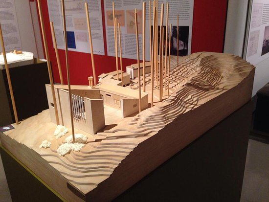 Jyväskylä, Finland: Model of Alvar Aalto's home where he tested materials for use in his designs