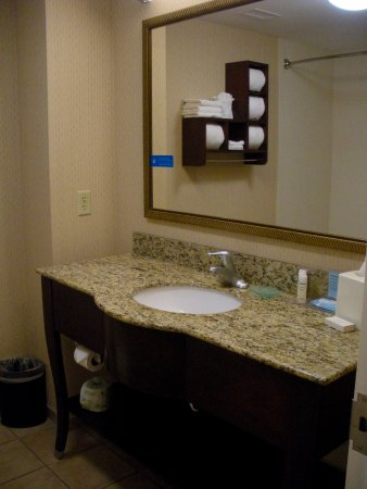 Hampton Inn Moab : bathroom in 108