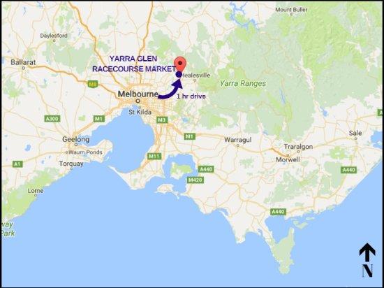 Yarra Glen, ออสเตรเลีย: Market Location