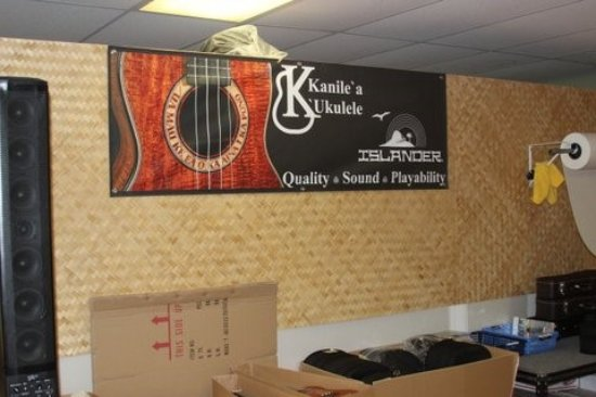 Kaneohe, HI: The last stop for your Kanile`a `ukulele before it makes its way to you: our Shipping department