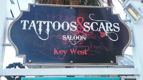 tattoos scars saloon key west fl omd men