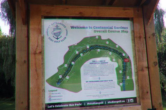 St. Catharines, Canada: The map of Centennial Gardens
