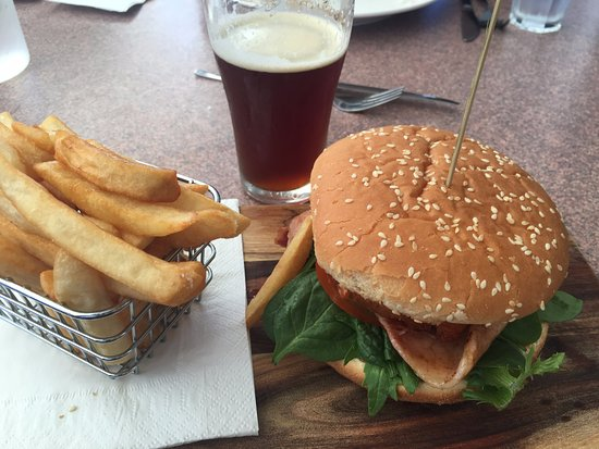 chicken schnitzel BLT burger
