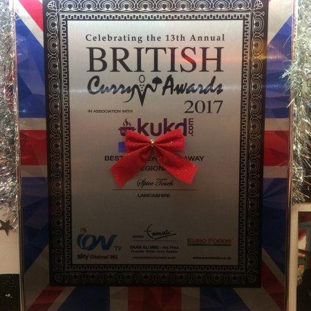 Carnforth, UK: British curry award