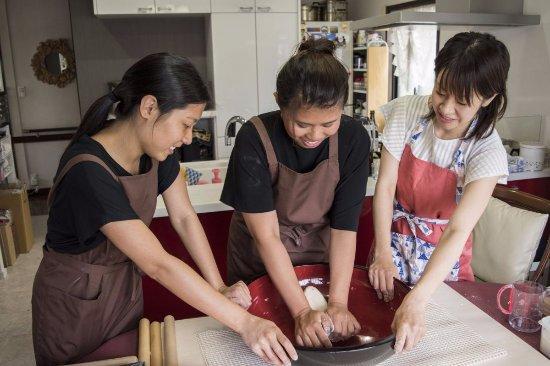 Suginami, Japan: cooking handmade soba noodle