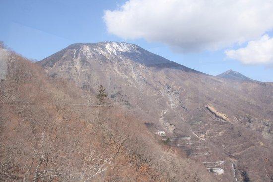 Akechidaira Observation Area: 男体山の景色
