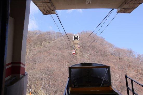 Akechidaira Observation Area: 展望台までのロープウェイ