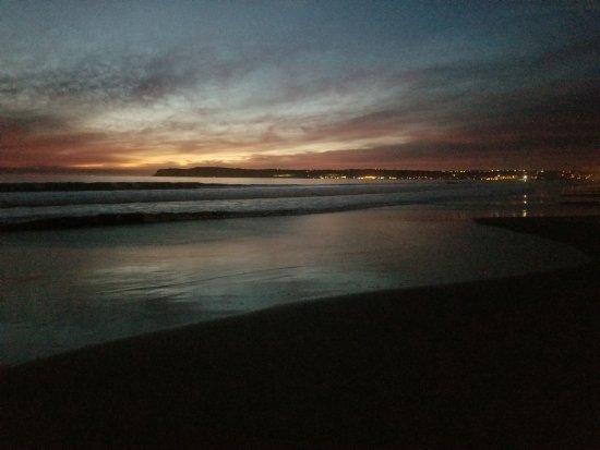 Hotel del Coronado: Sunset from the Del beach.