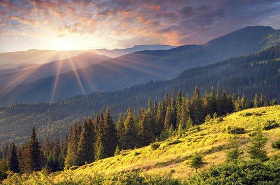 Montaña Vitosha y lago cerca de Sofía...