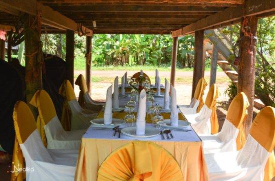 Cena en la aldea local de Siem Reap