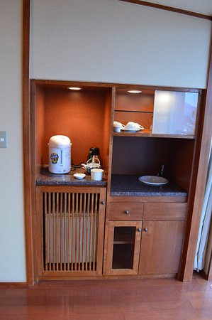 Tonosho-cho, Japan: Tea and fridge station