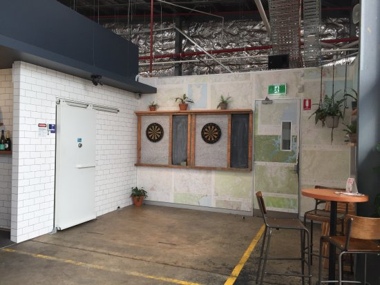 Capital Brewing Co: Dart Board Area And Cool Map Wallpaper