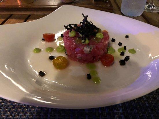 Sea Fire Salt: Tuna and oyster tartare