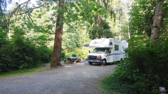 Campbell River, Kanada: Elk Falls Provincial Park (Quinsam Campground)