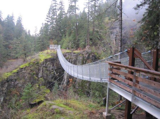 Campbell River, Kanada: Elk Falls Suspension Bridge