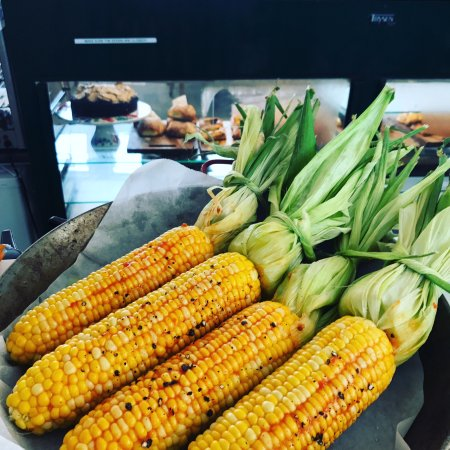 Foxton, New Zealand: Grilled corn with Chipotle butter