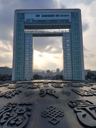 Weihai, China: There is a restaurant on top.