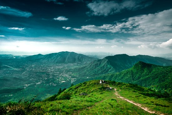 Hong Kong, Cina: Great Outdoors - Green - Tai Mo Shan