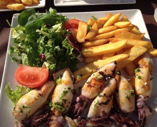 La Cepa: Grilled small squid platter