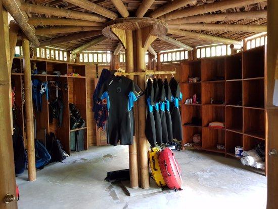 Ocean Prana Freediving & Yoga: equipment area