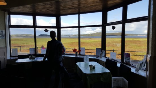 Grange-over-Sands, UK: Amazing views from inside the Promenade Cafe.