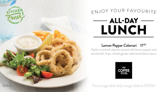 Coolum Beach, Australia: Lemon Pepper Calamari