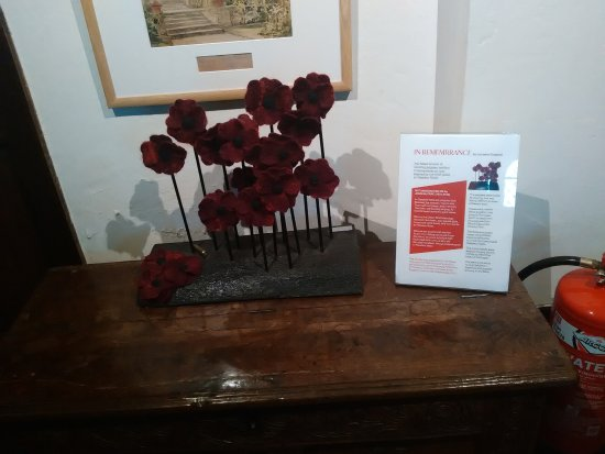 St Dominick, UK: Poppy memorial