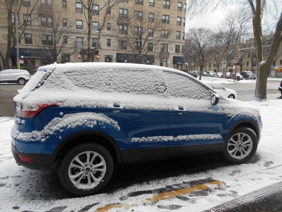 Evanston, IL : My car in Super 8 parking lot. They helped me clean it off!!!
