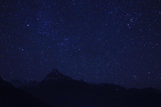 Kathmandutal, Nepal: many stars when you look upon the sky