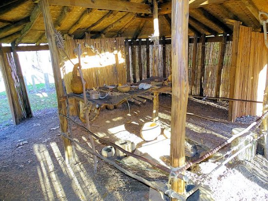 Wolf Creek Indian Village Museum Inside One Of The Huts